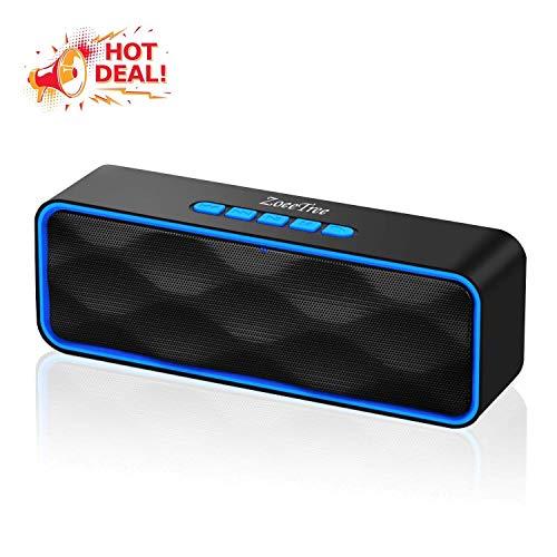 ZoeeTree S1 - Altavoces bluetooth, Bluetooth 5.0, altavoz portatil bluetooth, Estereo, al aire libre, con HD Audio y Manos Libres, Radio FM Antena Construido, Llamadas Manos Libres y TF