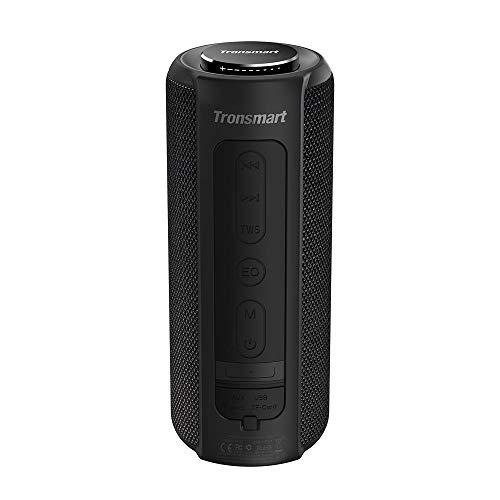 Tronsmart T6 Plus Altavoces Bluetooth 40W, Altavoz Portatiles Impermeable IPX6 con Powerbank, 15 Horas de Reproducción, Sonido Estéreo TWS, Efecto de Triple Bajo, Speaker Bluetooth 5.0 y Manos Libres