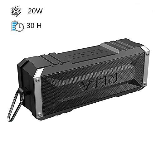 Vtin Punker -Altavoz Bluetooth , Premium 20W con Radiador Pasivo, 30 Horas de Emisión Continua ,Bluetooth 4.2 Altavoz inalámbrico portátil con para Huawei, XiaoMi, Nexus, HTC etc.