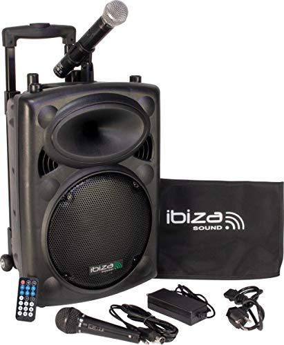 Ibiza Sound PORT10VHF-BT Sistema de sonido portátil y autónomo de 10'/25 cm, 500 W, color negro