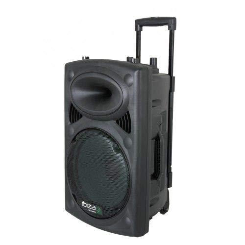 Ibiza PORT10VHF-BT - Sistema de sonido portátil y autónomo de 10', 250 W, color negro