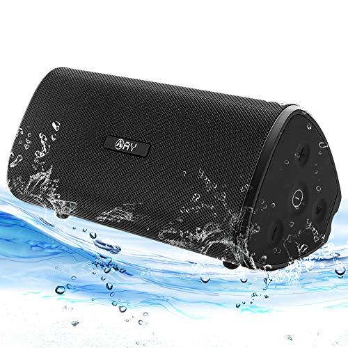 Altavoz 30W Portátil Bluetooth 4.2 AY, Impermeable IPX7,Sonido estéreo HD,Potentes con Tecnología TWS,Resistente a Golpes,Construido en Micrófono, Autonomía de 24h para Camping,Viajes,Aire Libre.