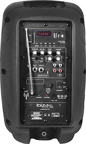 Ibiza HYBRID8VHF-BT-UK - Sistema de sonorización portátil y autónomo de 8', 20 cm