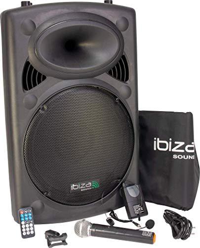 Ibiza PORT15VHF-BT - Sistema de sonido portátil y autónomo de 15', 450 W