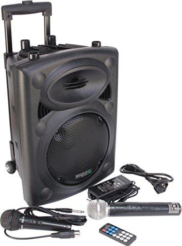 Ibiza Sound PORT8VHF-BT Sistema de sonido portátil y autónomo de 8'/20 cm, Bluetooth, Wireless, 400 W, Negro