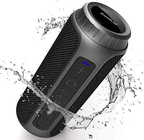 Zamkol Altavoz Bluetooth, 30W Altavoces Bluetooth portatiles, Sonido Estéreo de 360 Grados y Bass Mejorado, Sonido Estéreo TWS, Bluetooth 5.0, 10-15 Horas de Reproducción, Impermeable IPX6