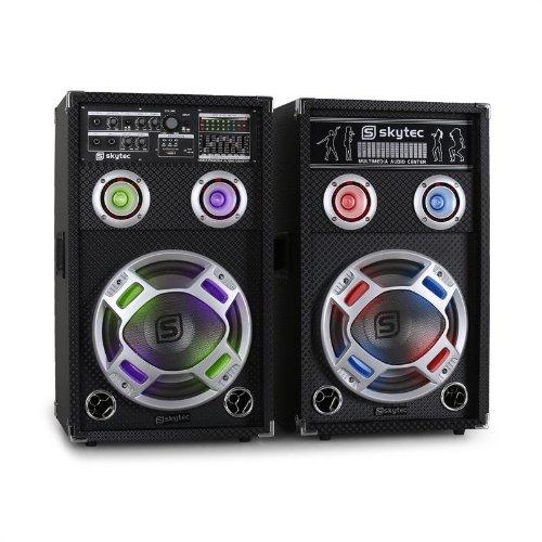 Skytec KA-10 Equipo de altavoces PA activo para karaoke 800W