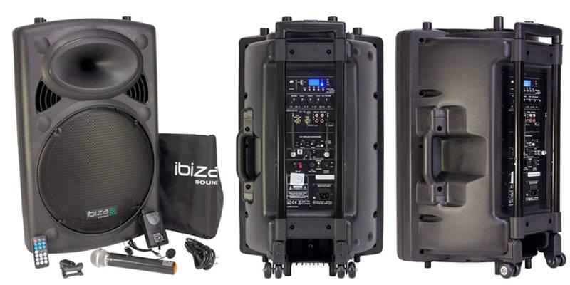 Sistema de sonido portátil Ibiza PORT15VHF-BT