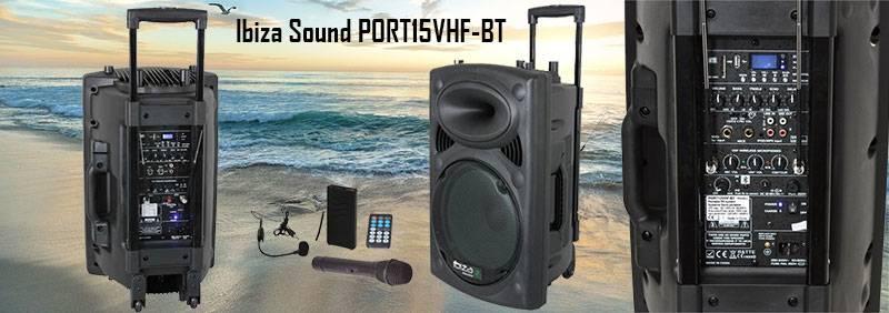 Altavoz Portatil Ibiza Sound PORT15VHF-BT
